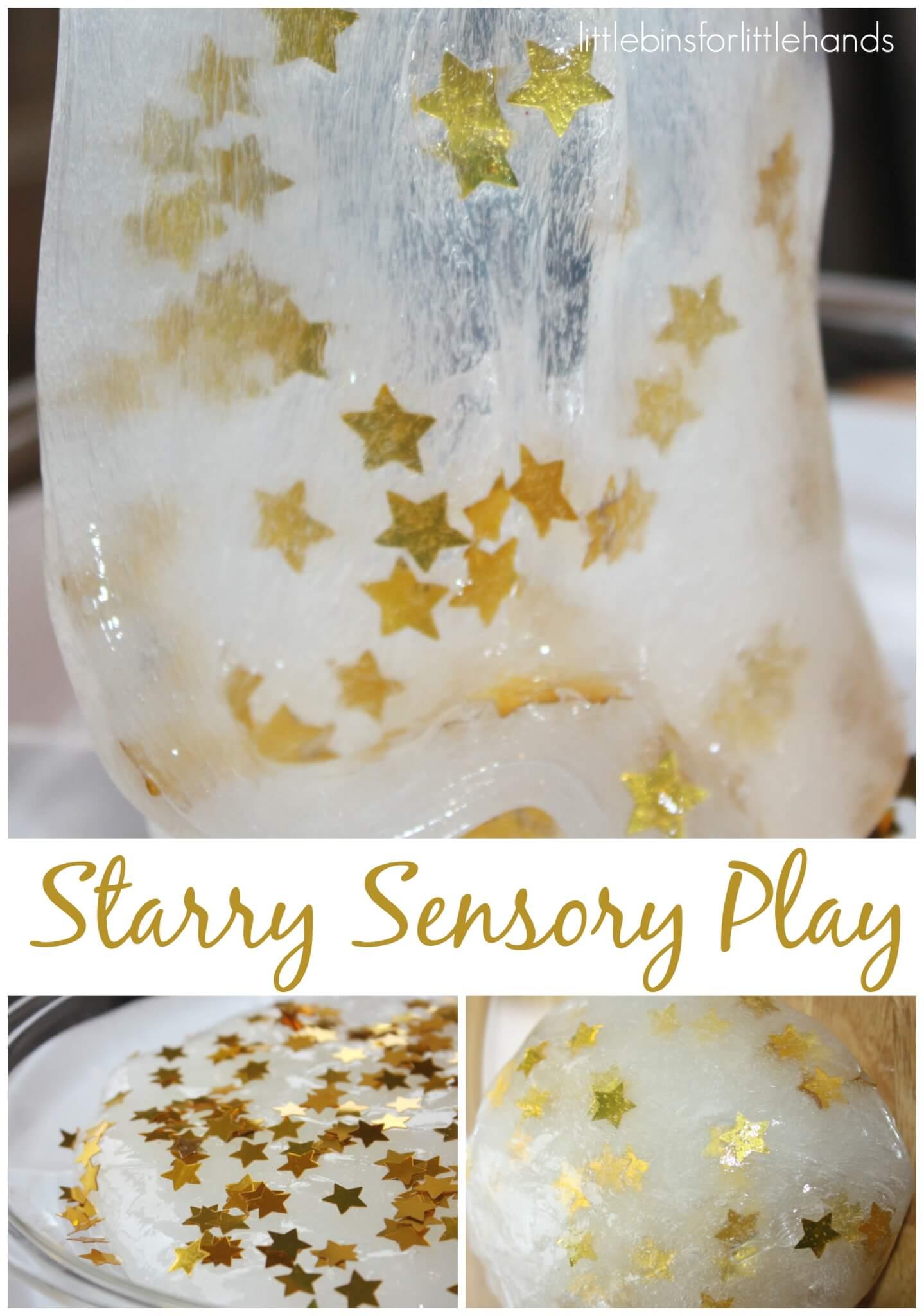 Star Confetti Slime Recipe Easy Sensory Play
