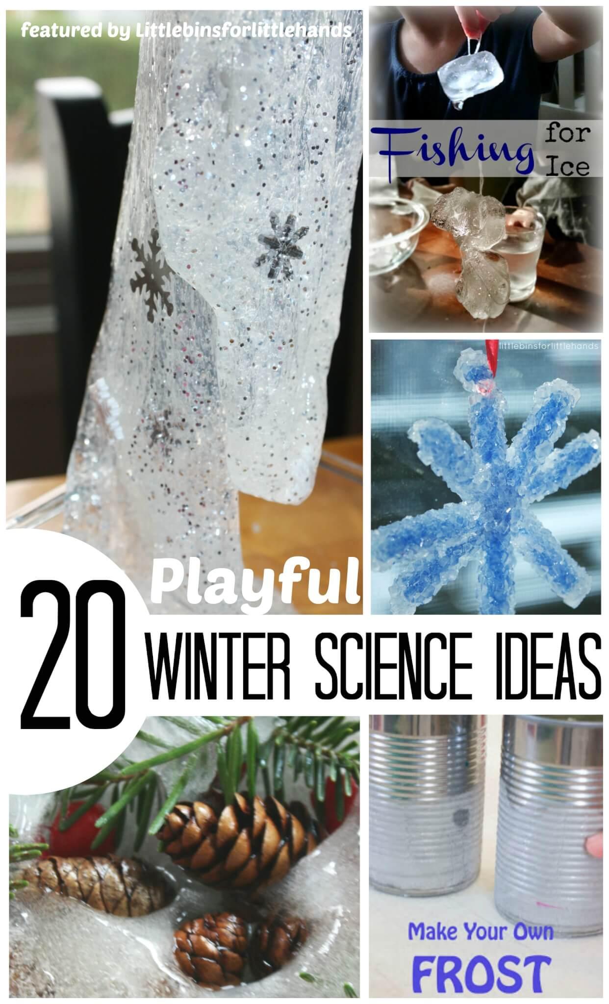 Winter Science Ideas For Kids Indoor Winter Activities