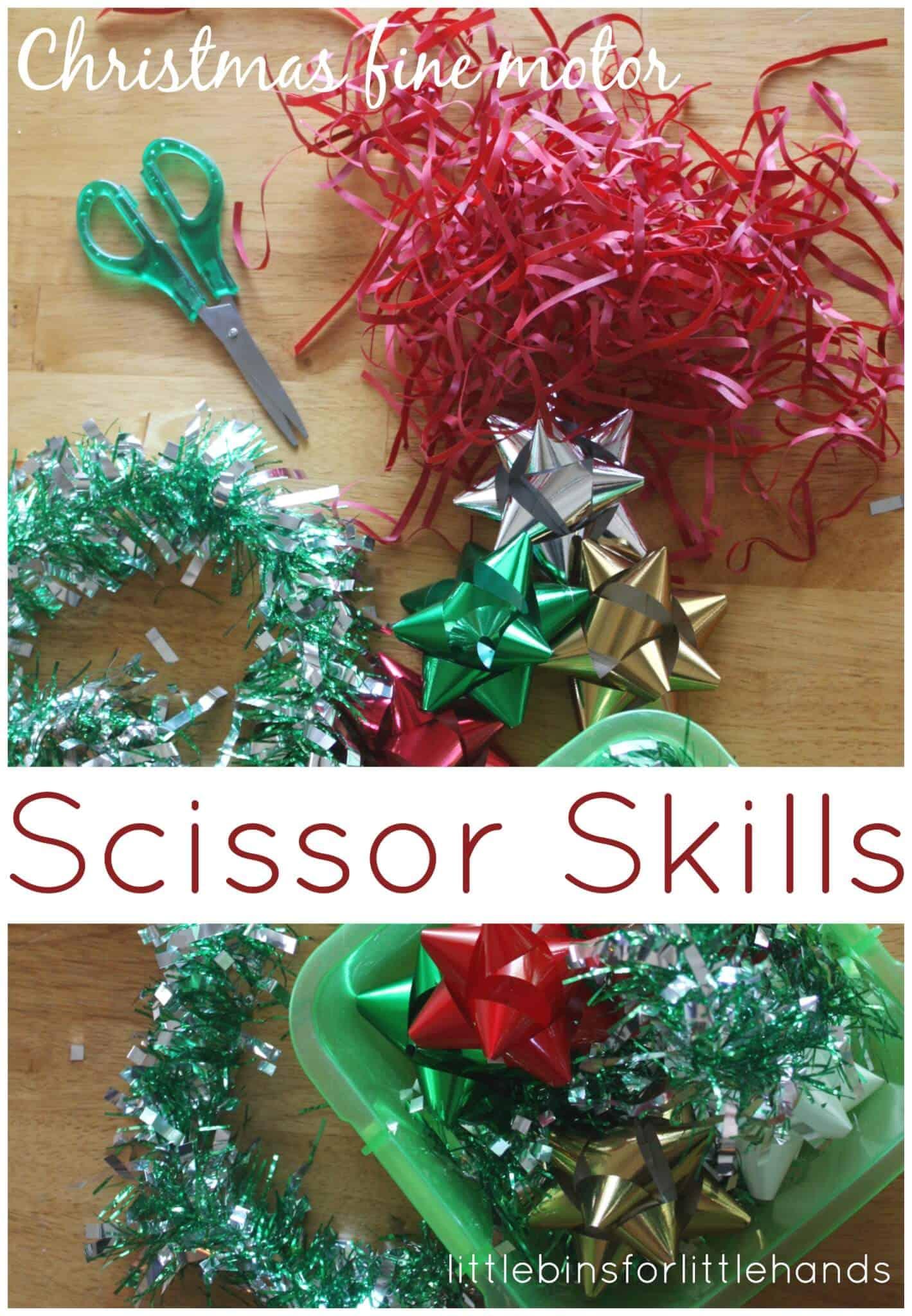 Christmas Scissor Skills Cutting Practice