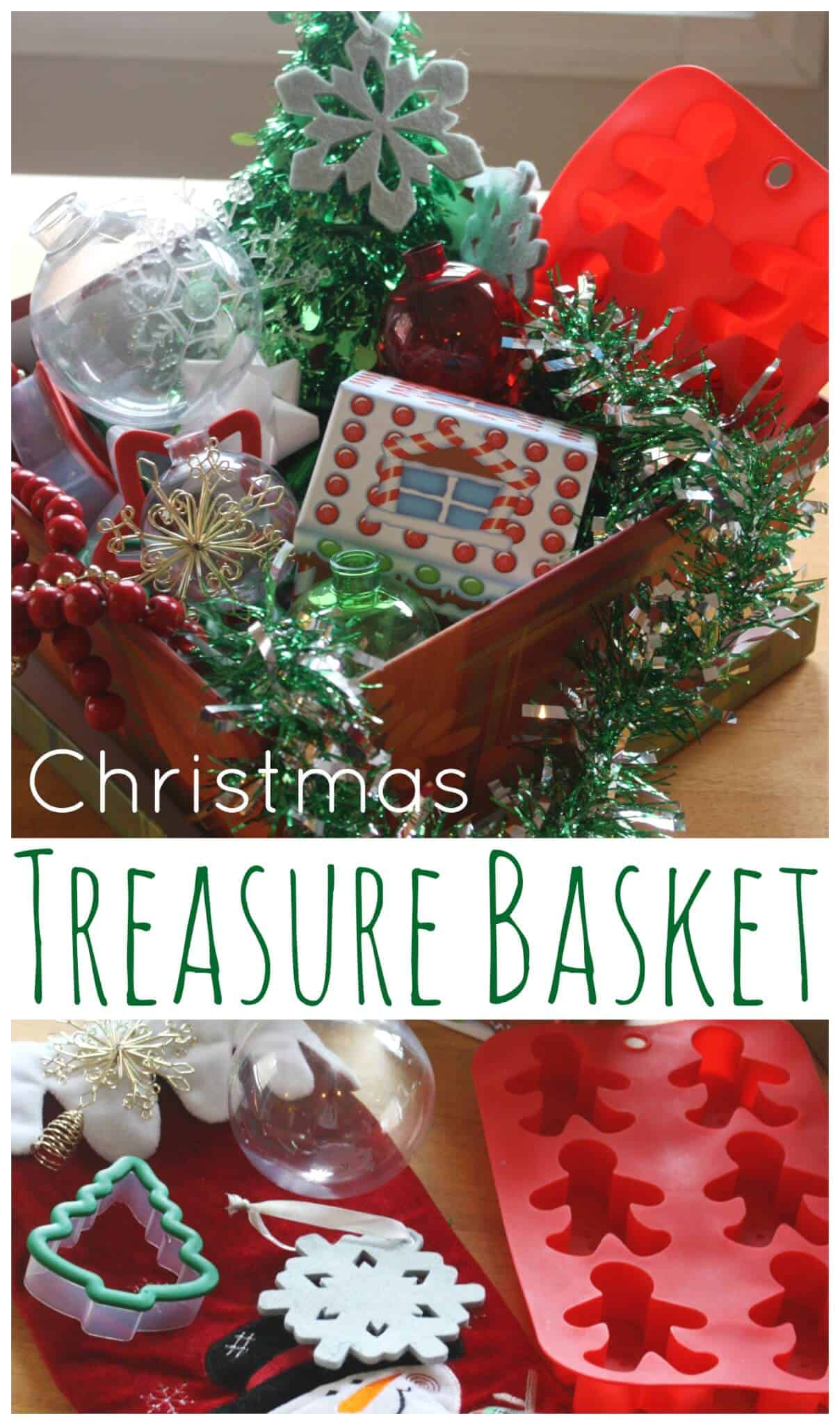 Christmas Treasure Basket Sensory Play For Toddlers
