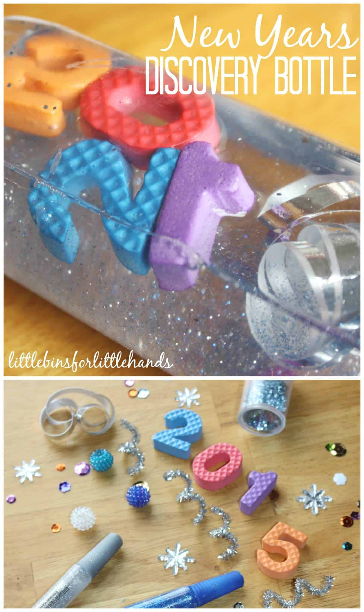 New Years Discovery Bottle Sensory Activity For Kids