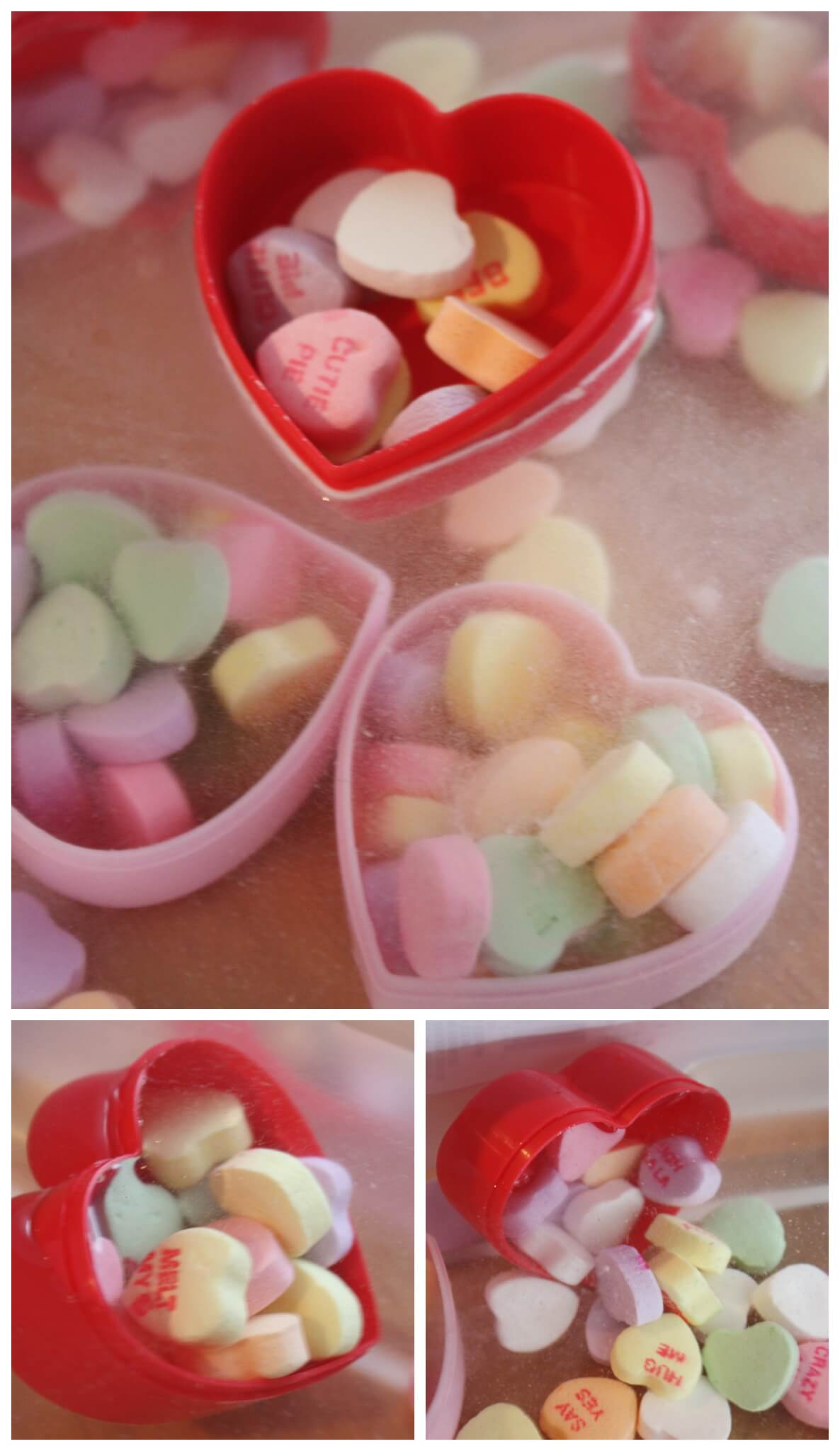 Candy Heart Sink The Boat Science Sensory Play