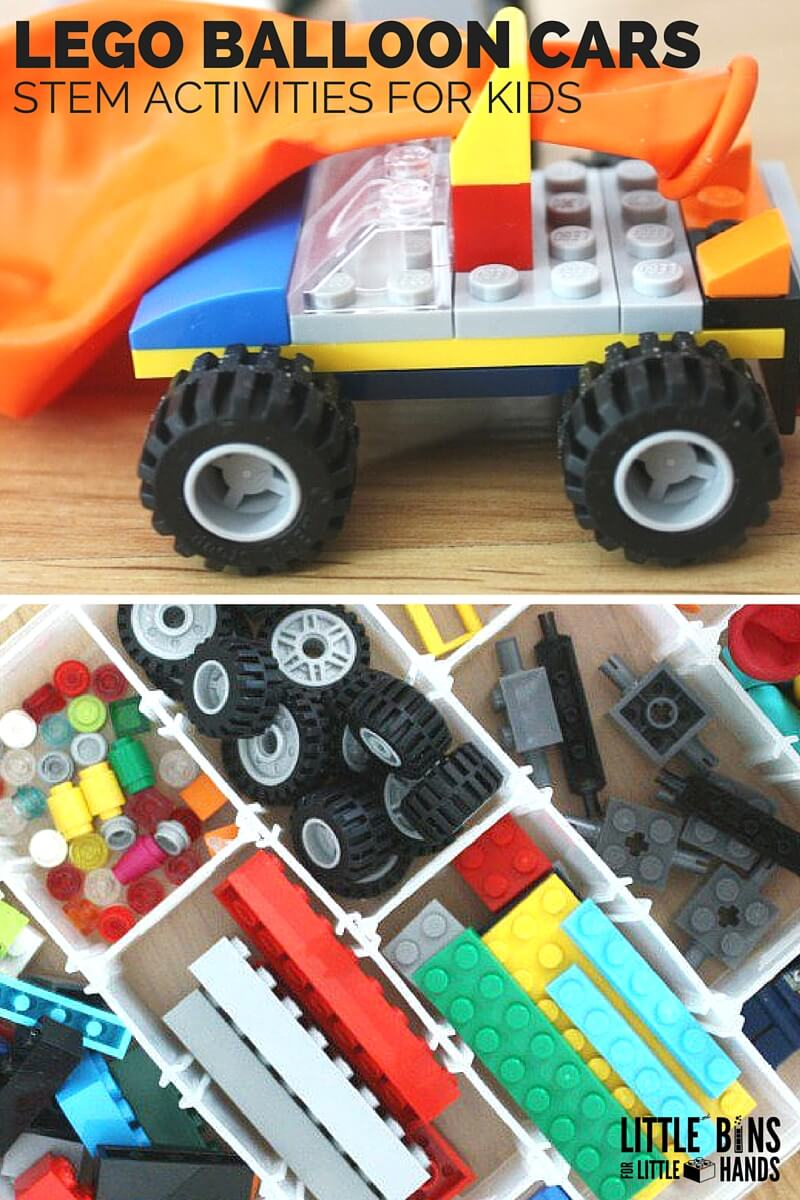 LEGO Balloon Car DIY Lego Building Kit STEM Activity LEGO Balloon Cars for Kids STEM Activities