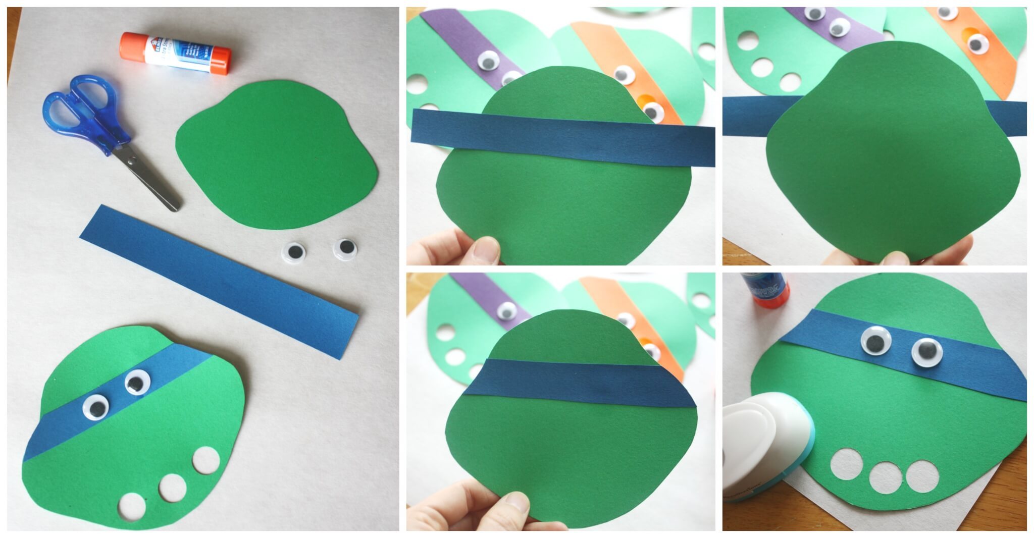 Ninja Turtle Finger Puppet Craft For Kids