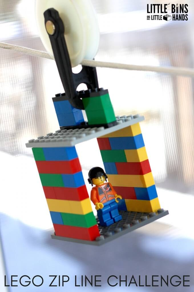 LEGO Zip Line Activity And Kids STEM Challenge
