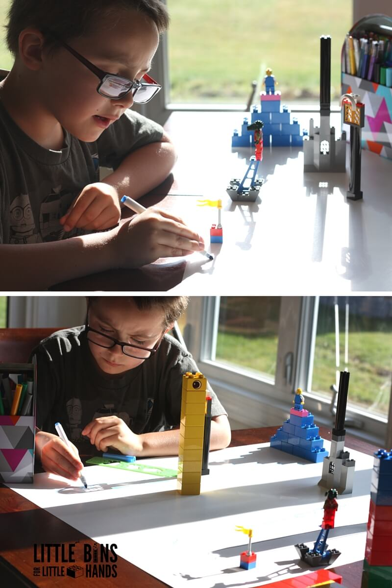 Drawing Shadows STEAM Activity With LEGO For Kids