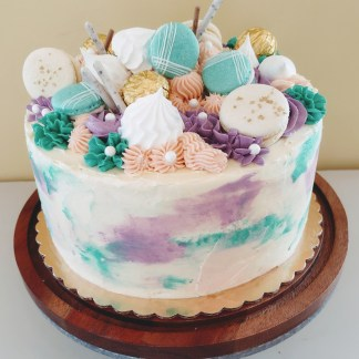 Celebration Custom Cake with Confections