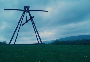 Pyramidian, by Mark di Suvero. This one made a sound that was like the low groan you can sometimes hear from a construction site...