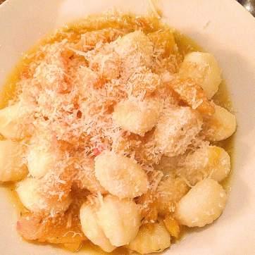 Gnocchi met pompoensaus
