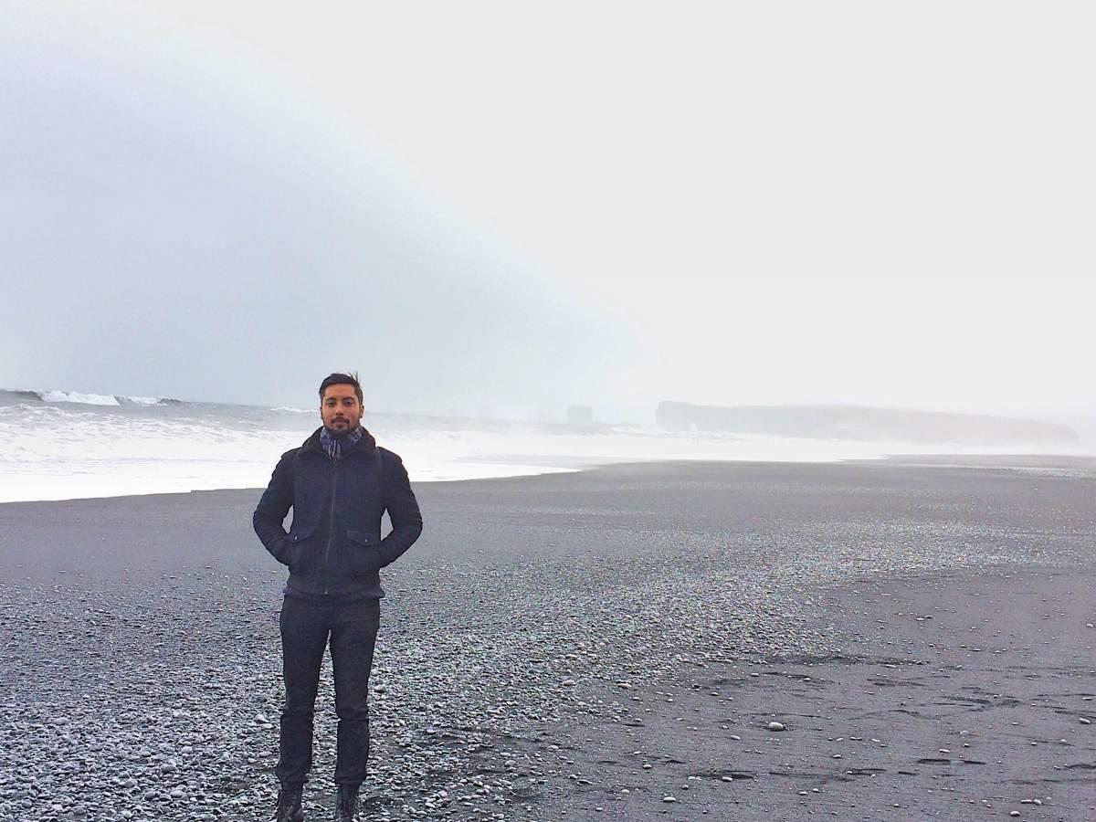 Le BF op het zwarte strand