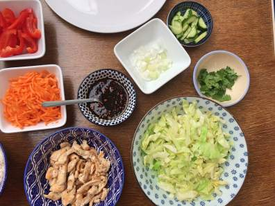 Ingredienten springrolls