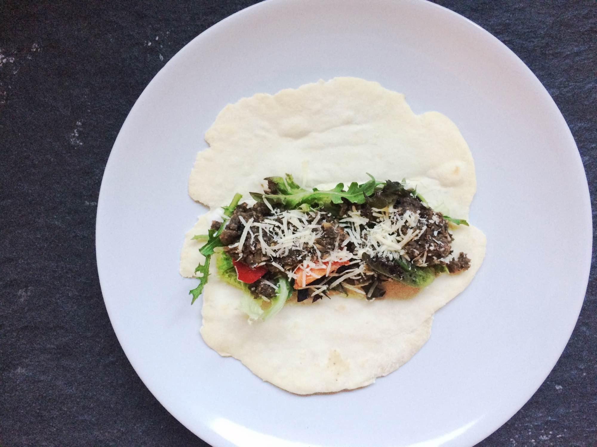 vega wraps met champignon gehakt