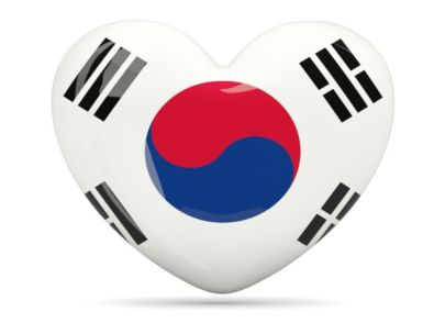 korean flag heart