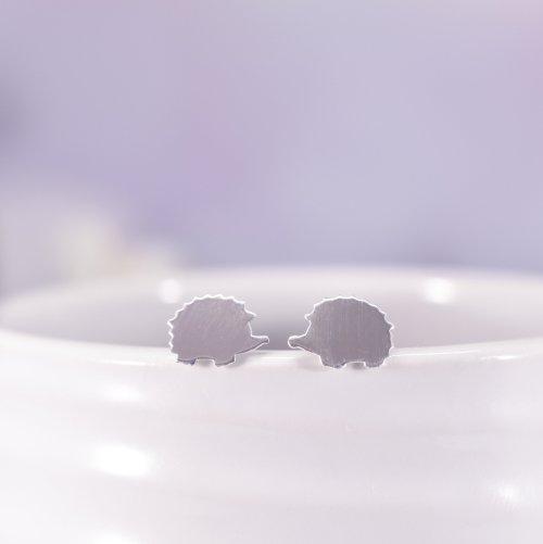 Sterling Silver Hetty Hedgehog Stud Earrings