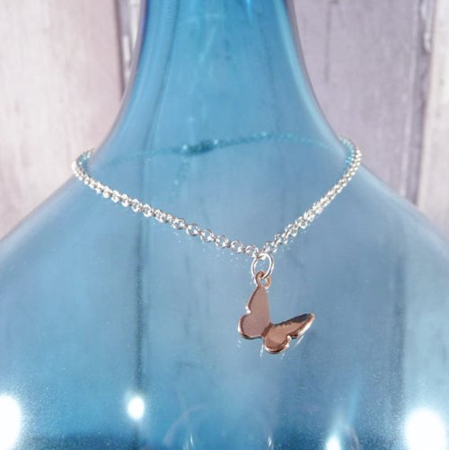 Handmade Rose Gold Vermeil Butterfly Bracelet