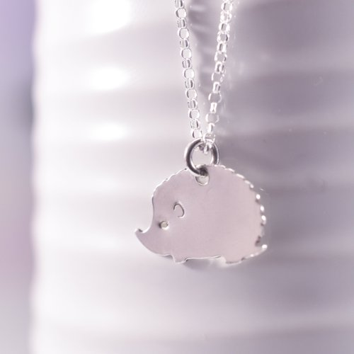 Handmade Sterling Silver Hetty Hedgehog Necklace
