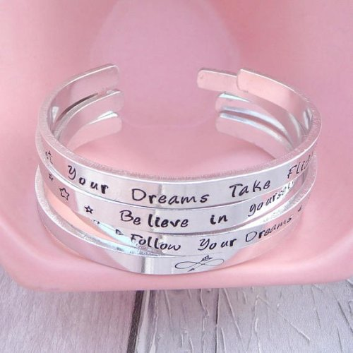 Handmade Personalised Aluminium Cuff Bangle
