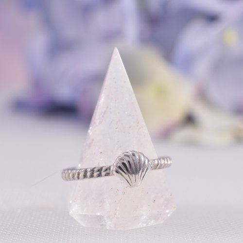 Handmade Sterling Silver Seashell Stacking Ring