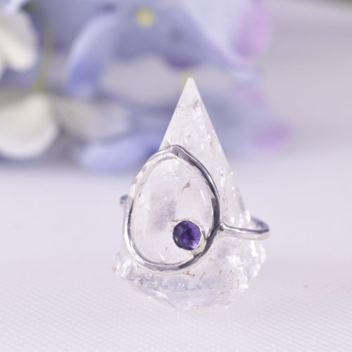 Handmade Sterling Silver Dewdrop Statement Ring