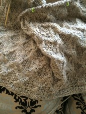 Diamond and Moss Blanket