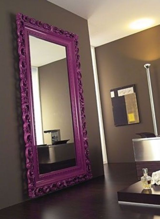 Magenta Floor Mirror