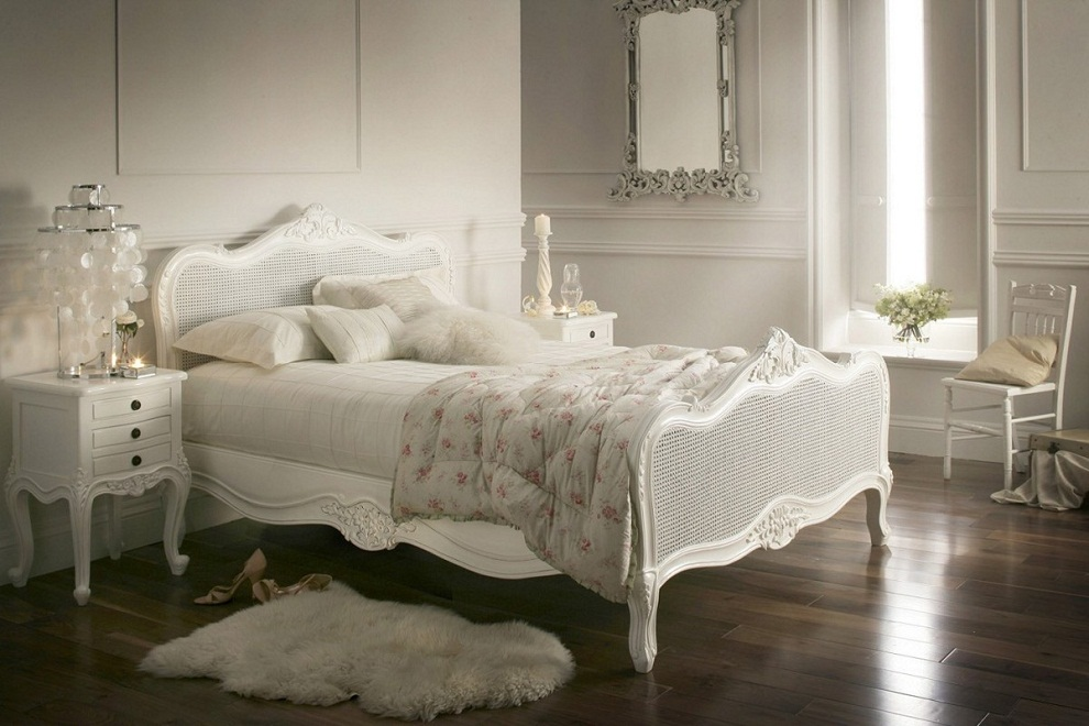 White-Queen-Bed-Frame-Wicker