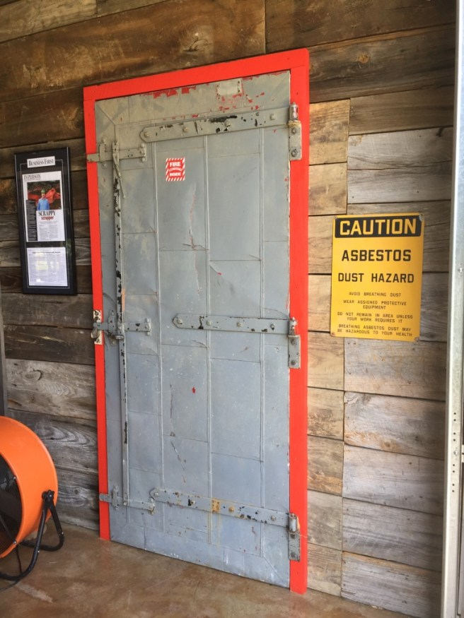 Ammunition Plant Door To Storage Room, Recycling Metal Doors, Industrial Signs