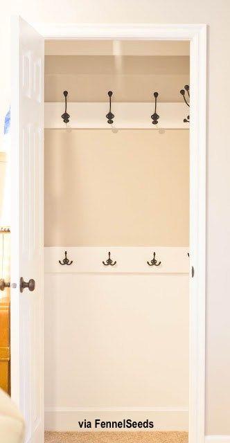 Coat Closet With Interior Hooks