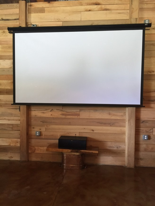 Movie Projector Screen, Movies In The Barn, Large Screen Movie Night