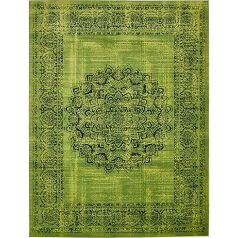 Neuilly Sage Green/Black Area Rug