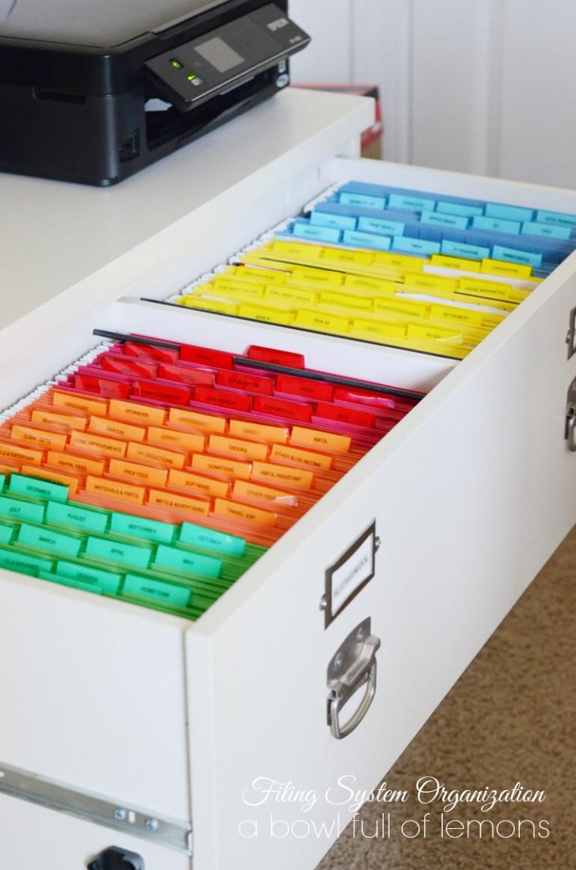 Organized File Cabinet