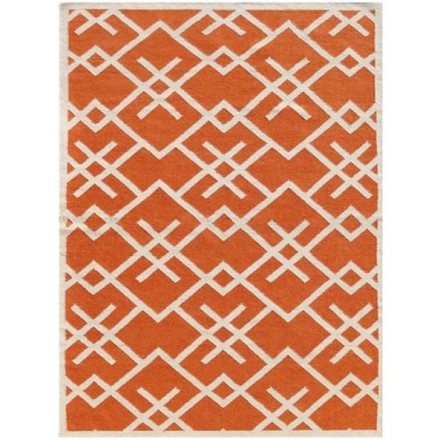 Wayfair Zaran Orange Area Rug