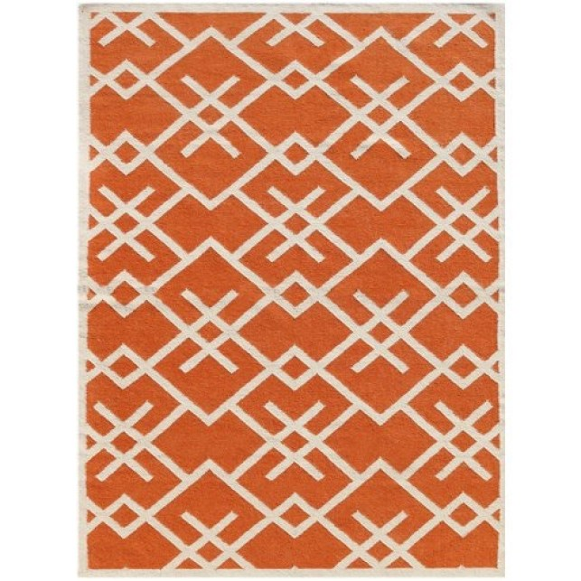 Wayfair Zaran Orange Area Rug