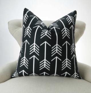 Black African Print Pillow