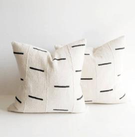 White Dash Pillows