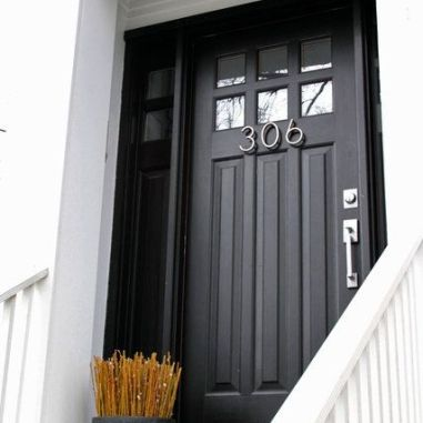 Deep Charcoal Gray's are a sharp contrast against white moldings.-via pinterest