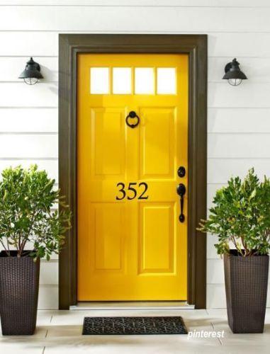 marigold yellow front door - wow! via pinterest