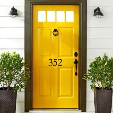marigold yellow front door - wow! via pinterest