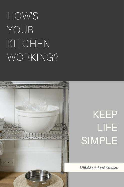 How's Your Kitchen Working? -Littleblackdomicile Pinterest