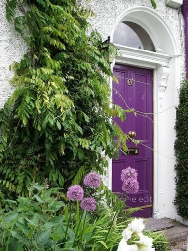 Purple Entry Doors Are So Rich and Creative- via home edit