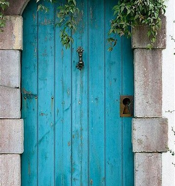 Turquoise is a fabulous color for an entry door....a gate...as an accent to a home's exterior.