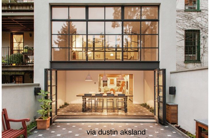 Rear of Glass Contemporary House