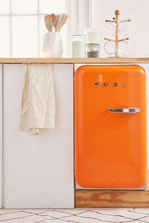 Smeg Refrigerators Come in All Sizes and Colors. Look at this under counter Smeg model.
