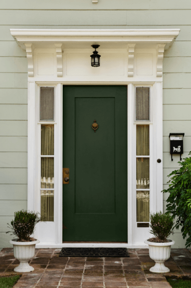Simple Design Doors Are Elevated To New Design Levels With A Rich Green Paint
