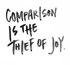 "theordore roosevelt said it best..""comparison is the thief of joy"""