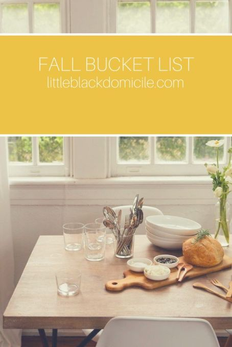 pinterest fall bucket list @littleblackdomicile.com