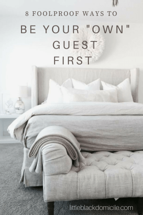 littleblackdomicile the foolproof guest room