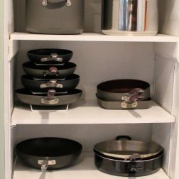 pantry full of pots and pans via pinterest