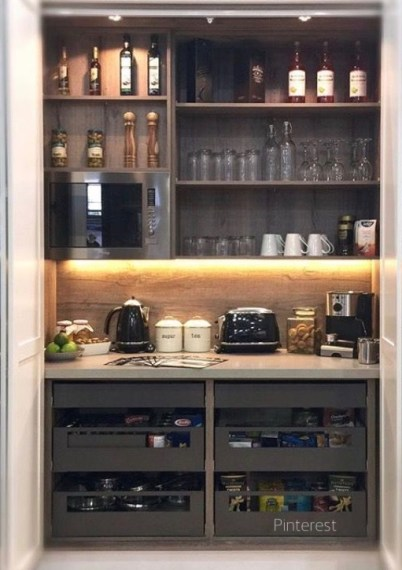 Morning Bar In Pantry via Pinterest