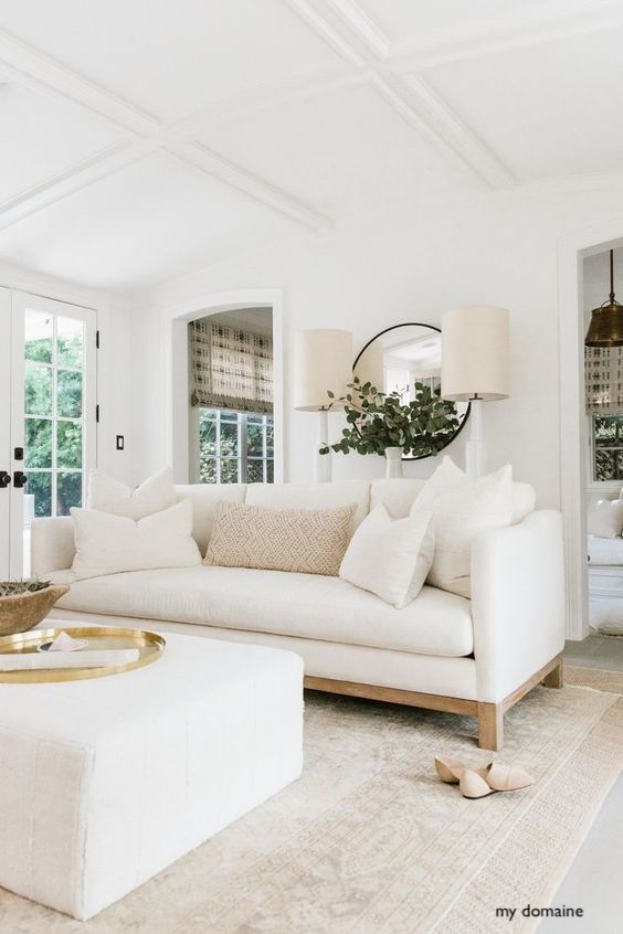 my domaine in creamy, light neutral decor a pop of color can be how to change up the seasons